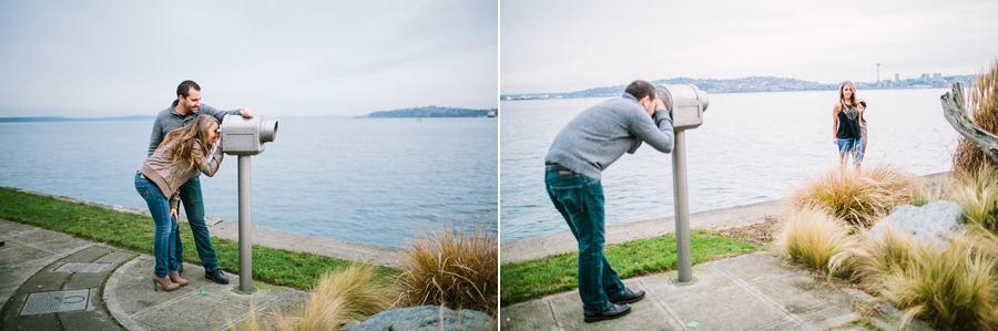 Seattle engagement Terrill and Jessica from Alki beach