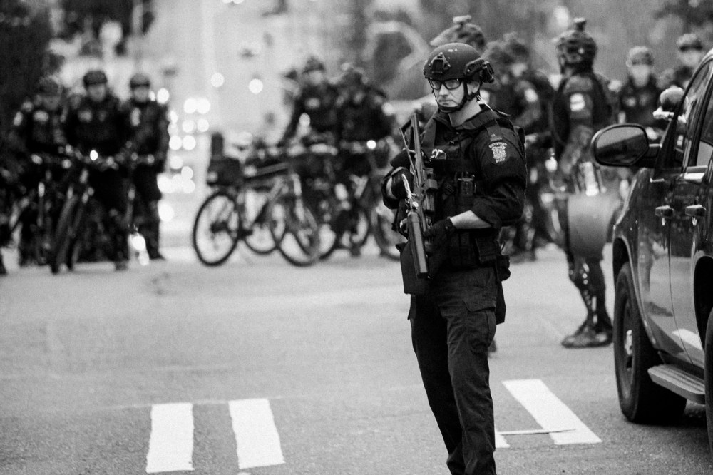flash bang police officer