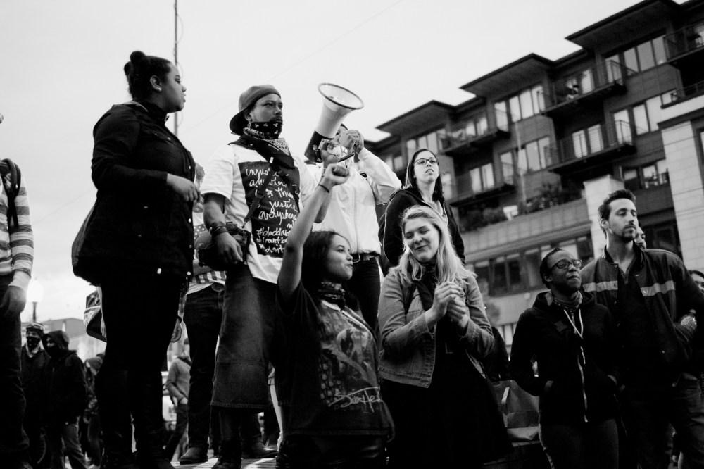 leading a chant