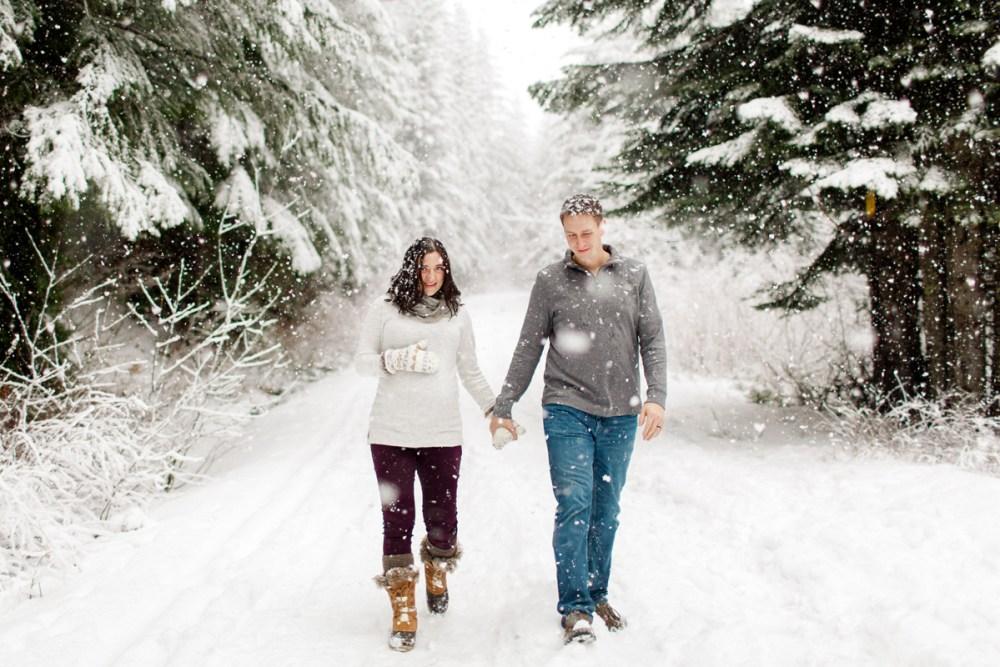 snow maternity walking