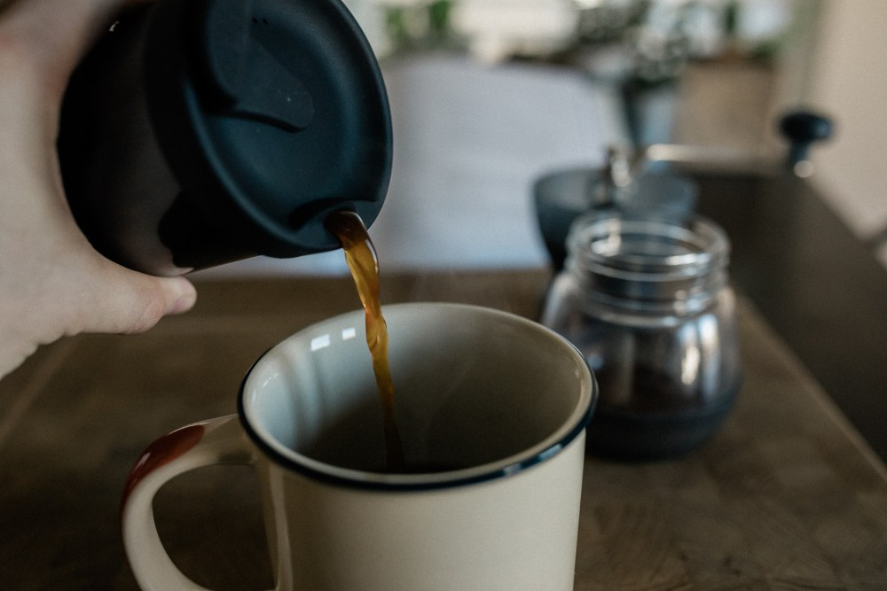 coffee pouring from french press