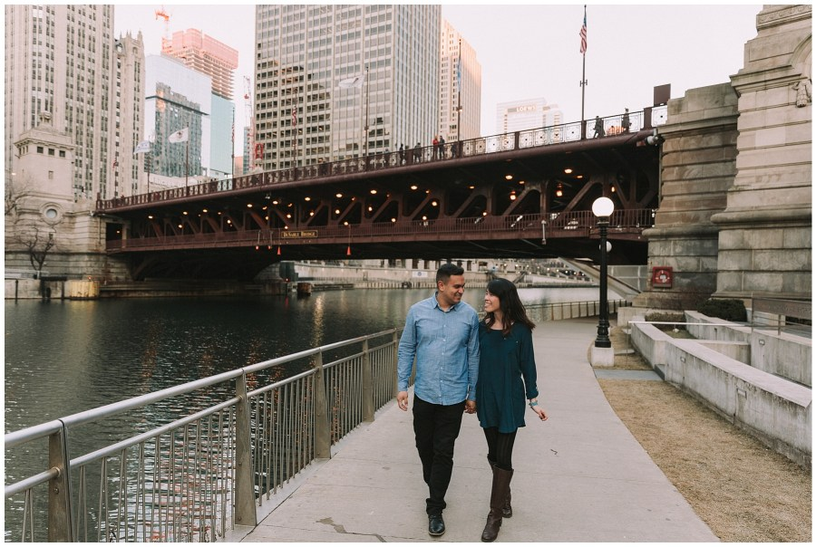 Teyen & Victor Downtown Chicago Engagement Session