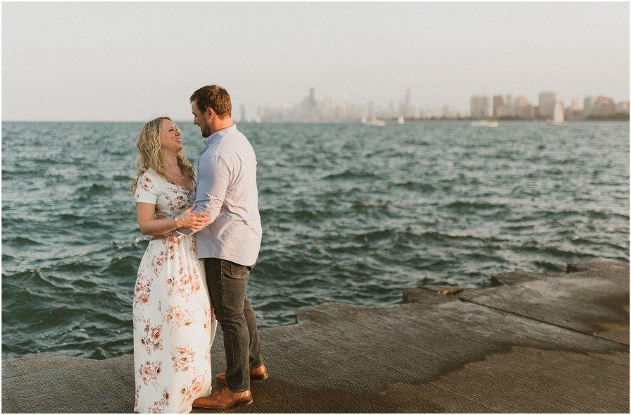 Mallory and Nick Montrose Beach Engagement Session Chicago Wedding Photography Kyle Szeto