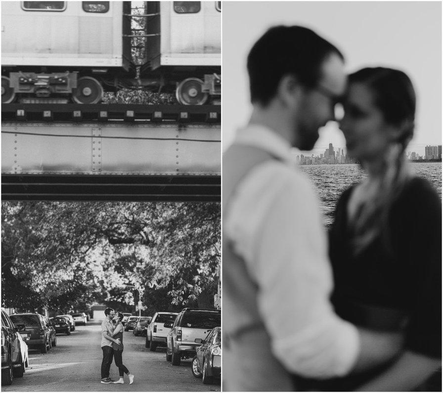 Logan Square Chicago Illinois Wedding Engagement Photographer