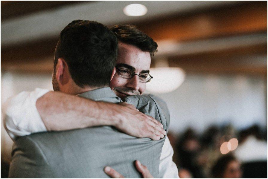 Chicago Groom Hug