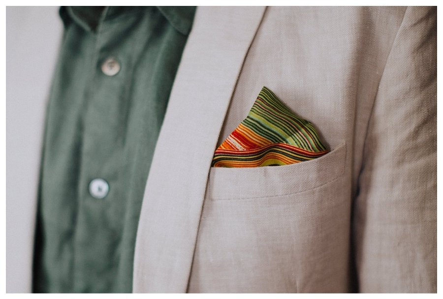 Champaign groom with pocket square