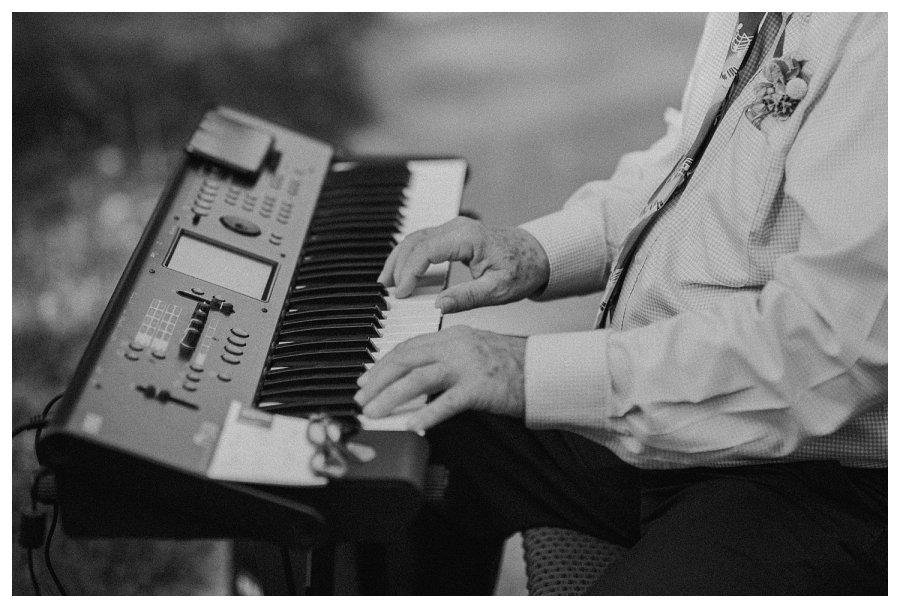 Champaign wedding ceremony piano