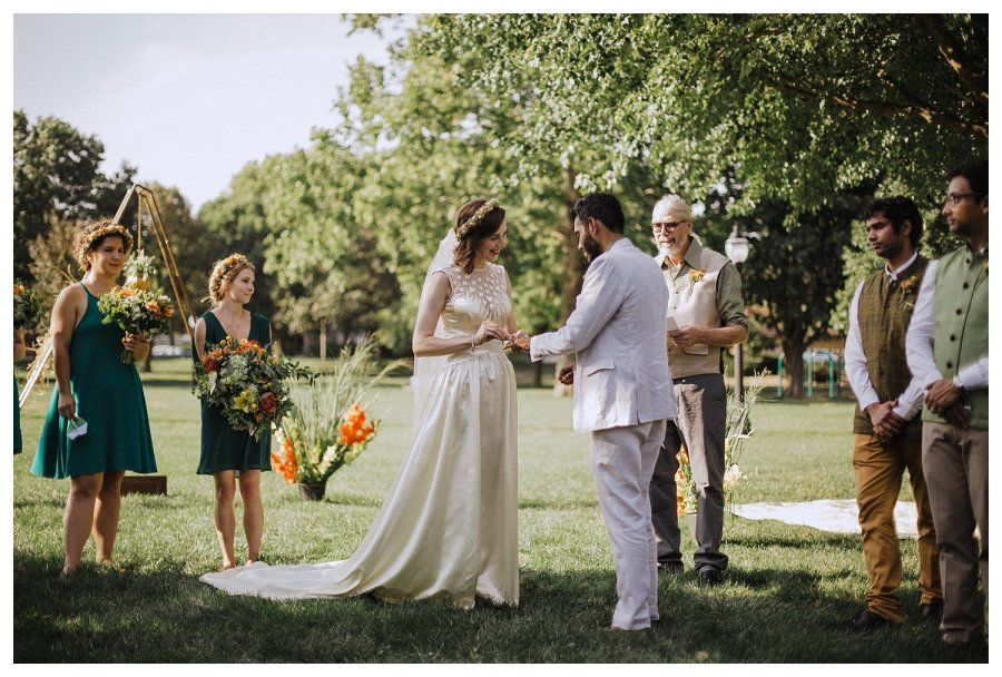 Champaign exchange of wedding rings