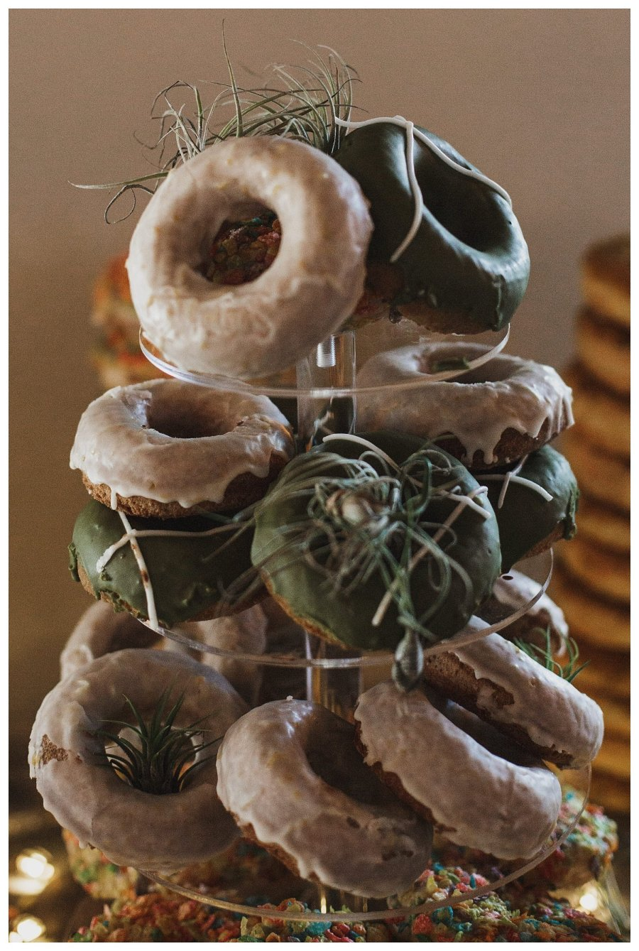 Big grove tavern wedding donut tower