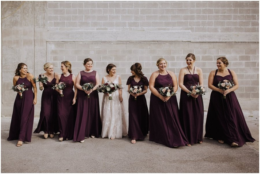 bridesmaids walking together