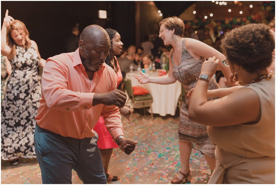 Intimate Filament Theater Chicago Wedding Reception