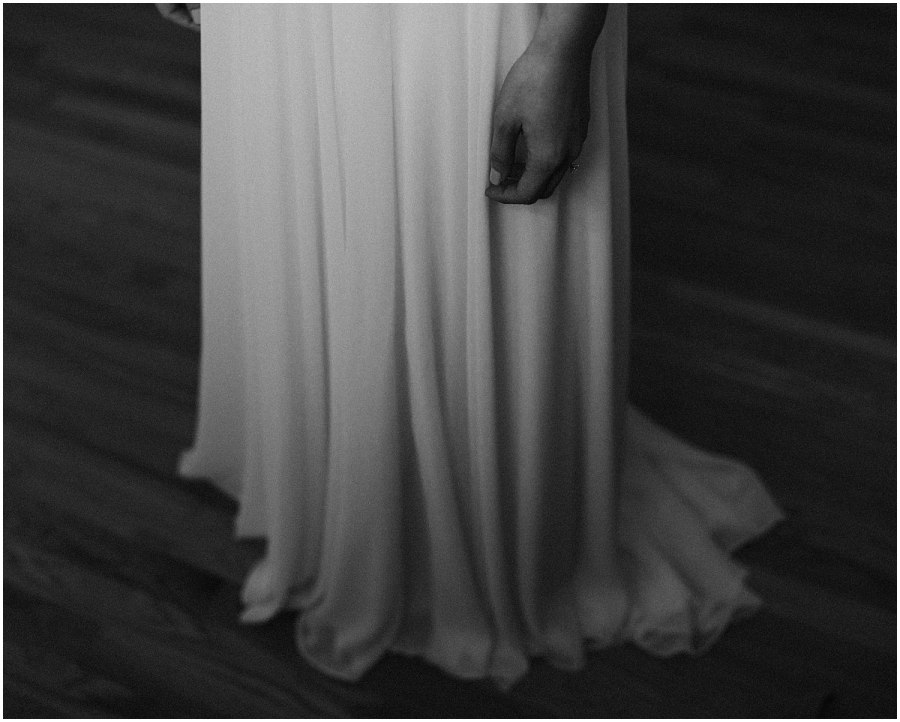 bride standing in her wedding dress Chicago wedding photographer kyle szeto