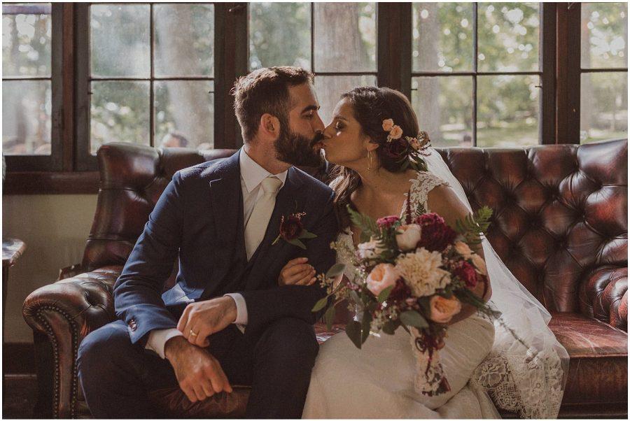 couple kissing wisconsin wedding elopement photographer kyle szeto