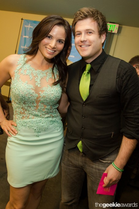 with Katrina Law at The Geekie Awards