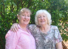 With my Godmother Julie, my Mum's sister.
