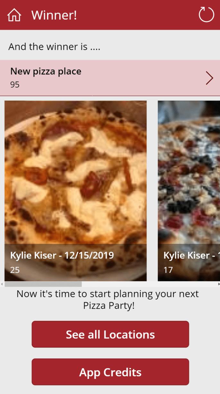 Power Pizza Winner Announcement