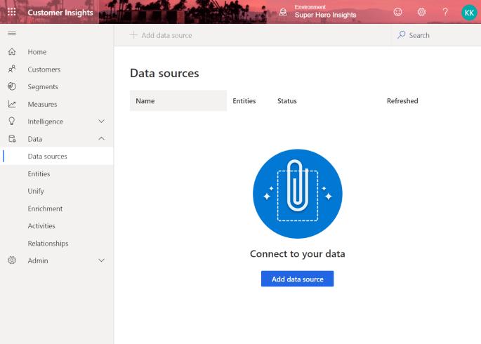 Add Data Source to Customer Insights