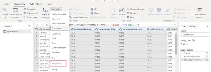 Updated Data Type