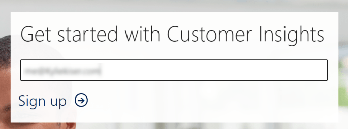 Step 1: Enter Customer Insights Email