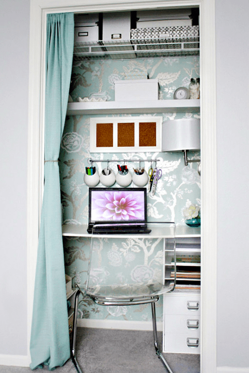 Kylie Mccorquodale Writing Work from home Closet work space