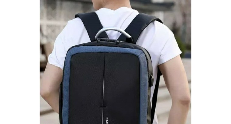 Anti theft backpack with locker and USB port