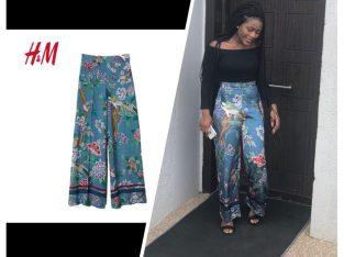 Ladies Flower Material Trousers