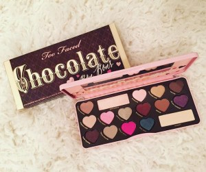 The Too Faced Chocolate Bon Bons Eyeshadow Palette is very popular for a reason. The colors are highly pigmented and very crea,y with an easy application, and the palette smells like chocolate! Plus the packaging is super fun! This would make a great gift for anyone who likes makeup.