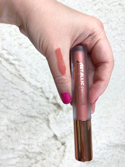 Metallic GRL PWR Liquid Lipstick in shade Rojito: This liquid lipstick is my newest love. I CANNOT get enough of it. First off, I usually don't wear matte lipstick for long because I hate the way it makes my lips feel. They always feel very drying to me. This one does not feel that way at all. It's the first one I can handle wearing the entire day, which is good because it does NOT want to come off! I love that because my lips always look good when I wear it! The only place it wears down a little is in the corners of my mouth so I reapply there and that's it. Not only is the formula awesome, but the color is phenomenal! The metallic sheen is so fun and vibrant, I cannot wait to get more colors! This one is totally on repeat for summer and would be SO fab in the fall! It's enriched with Shea Butter and Vitamin E and does not flake on me at all. I'm in love!
