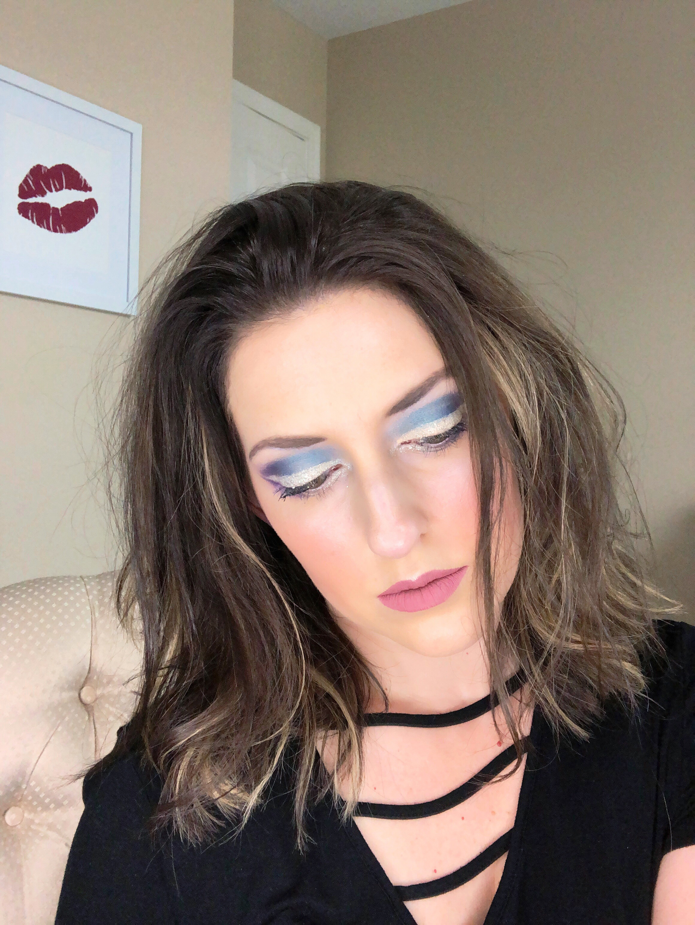 Festival inspired glam makeup featuring products from the beauty crop