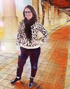 Target a new day women's leopard print pullover sweater
