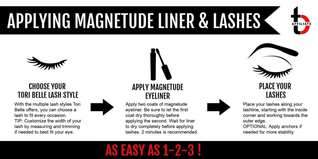 How to apply magnetude magnetic eyeliner and lashes