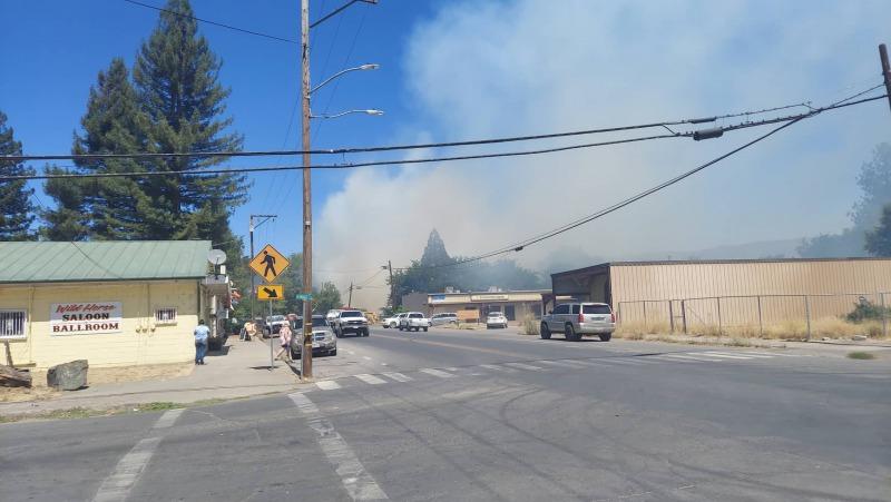 Fire in Covelo.