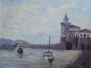 Port espagnol, Kyna de Schouel artiste peintre