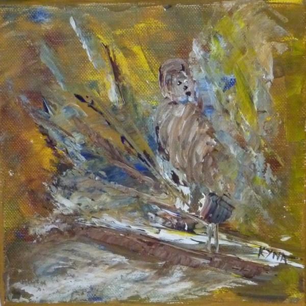 La fusée, peinture abstraite, Kyna de Schouël artiste peintre