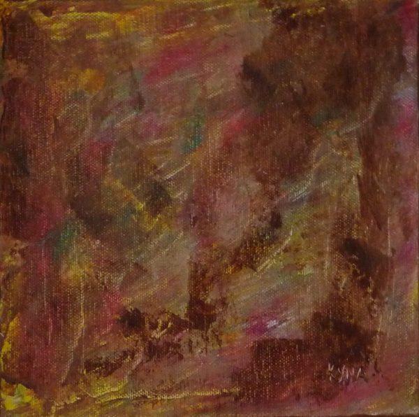 Animaux, peinture abstraite, Kyna de Schouël artiste peintre