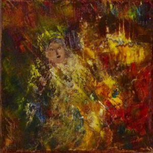 L'indienne, peinture abstraite, Kyna de Schouël artiste peintre