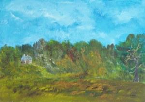 La forêt fantastique, peinture, Kyna de Schouël artiste peintre