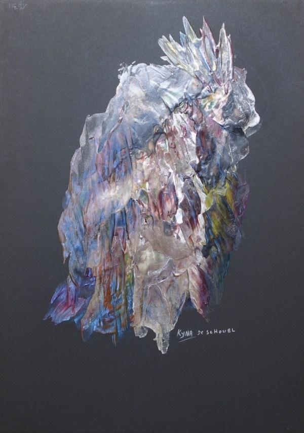 Les bêtes, Art abstrait, Kyna de Schouël artiste peintre