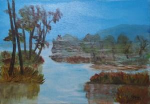 Brume tropicale, Kyna de Schouël artiste peintre