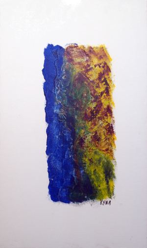 Pachamama, art abstrait, Kyna de Schouël artiste peintre