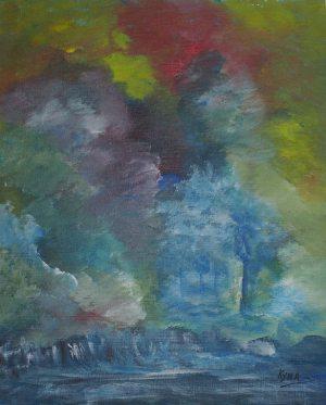 Paix et sérénité des femmes papillons, Kyna de Schouël artiste peintre