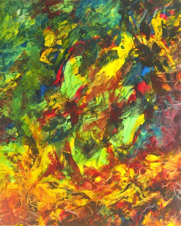 Merveille, peinture abstraite, Kyna de Schouël artiste peintre