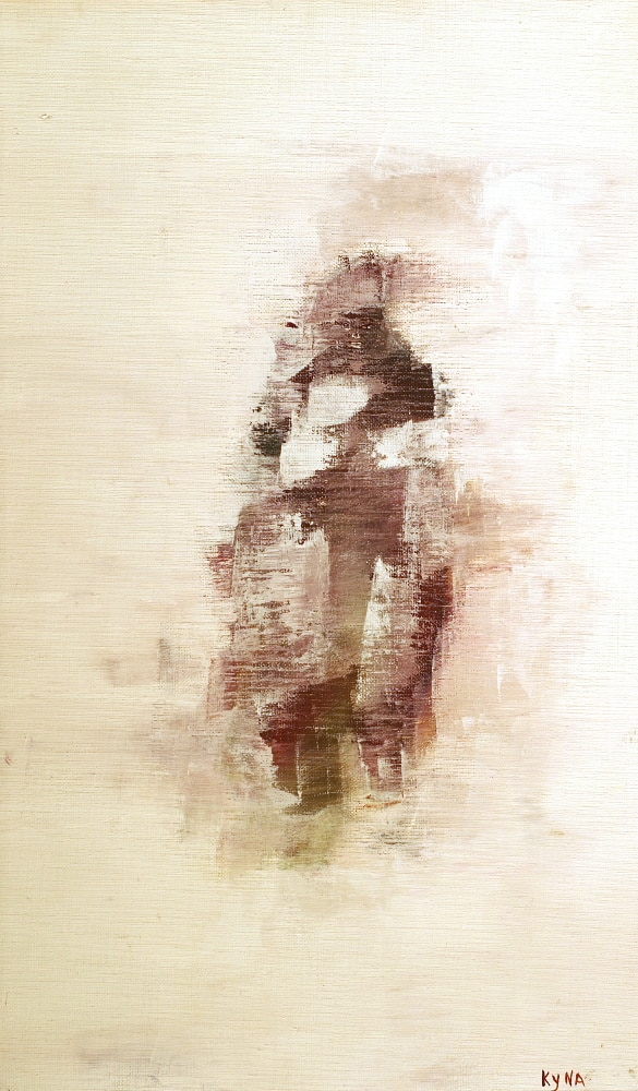 M. et Mme Chang, peinture abstraite, Kyna de Schouël artiste peintre