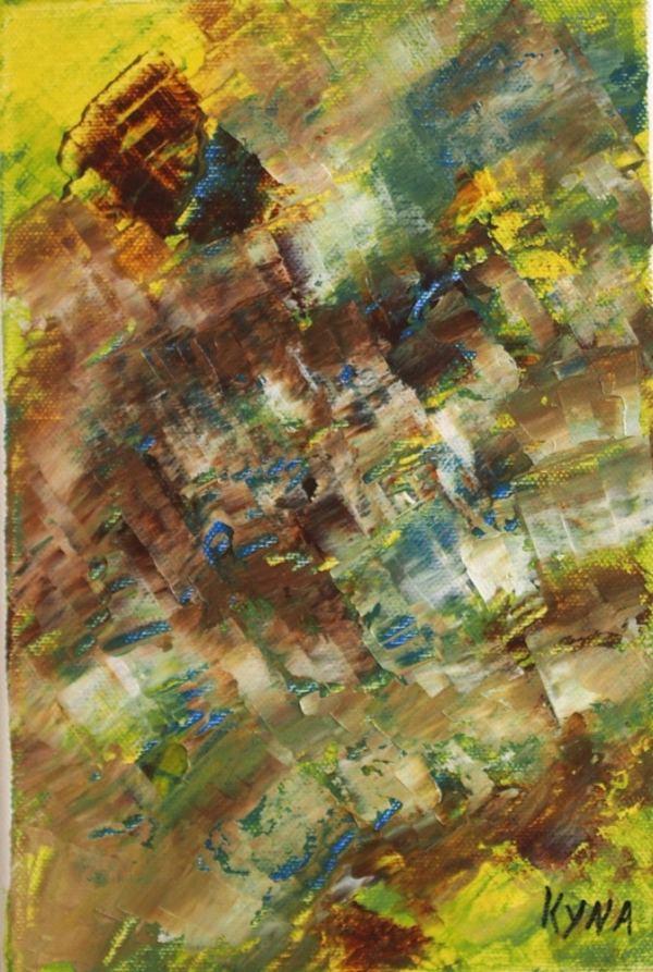 Ondine, art abstrait, Kyna de Schouël artiste peintre