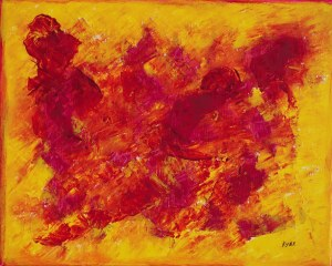 Le fleuve jaune, peinture, Kyna de Schouël artiste peintre