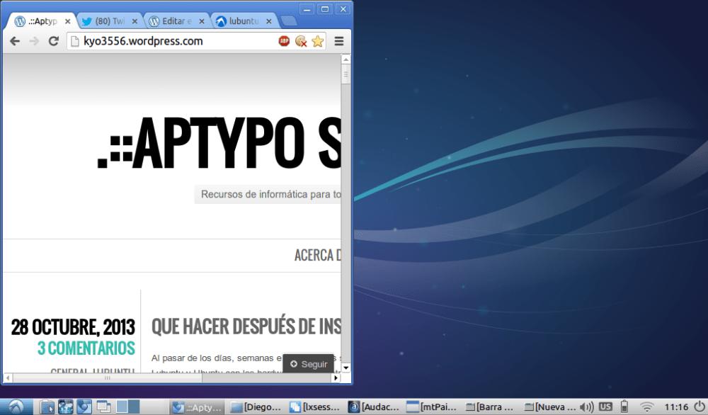 Final: Que hacer después de instalar Lubuntu 13.10 (2/5)