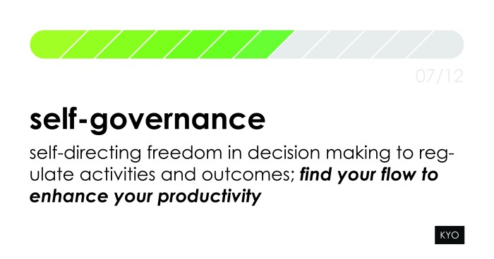 12 Hot Topics of Influence - Self-governance - KYO