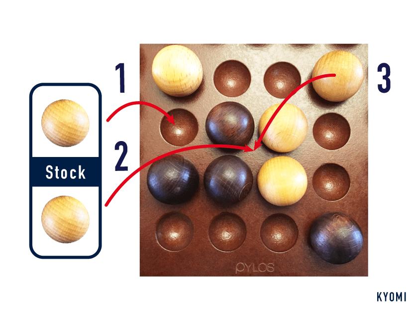 ピロス_球の置き方