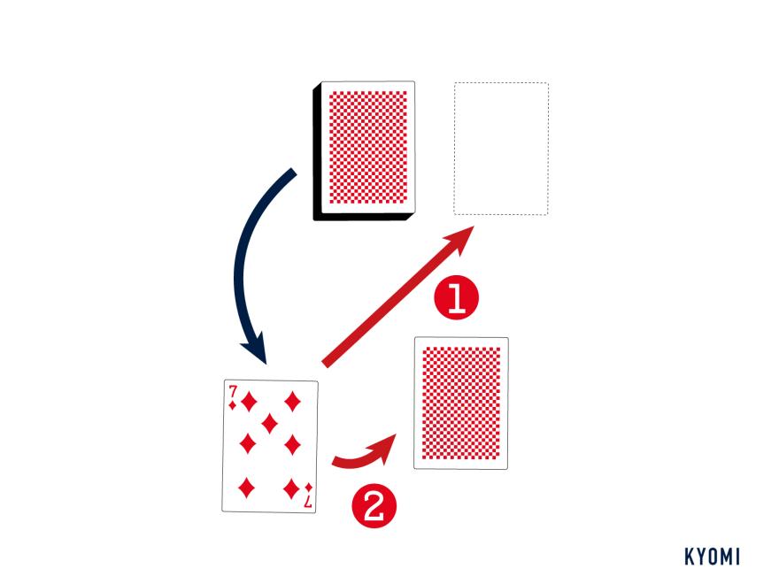 セブンスペード-ルール-スペード以外のカードをドロー