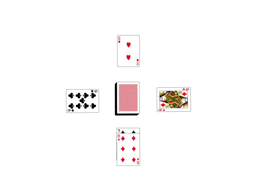 キングスインザコーナーズ-トランプ-カードを出す